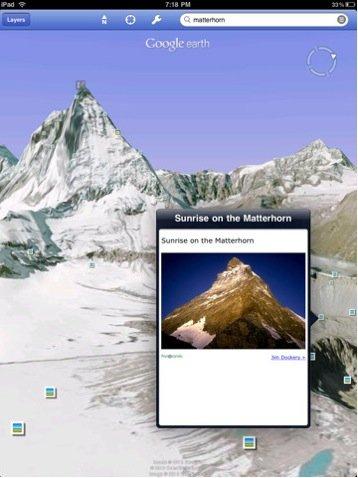 谷歌发布iPad版谷歌地球(图)
