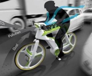 带空气净化功能的自行车问世 把手处配过滤器