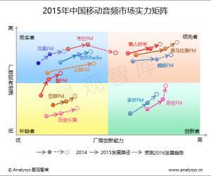 2015年中国移动音频市场实力矩阵分析