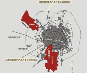 成都市现有工业园区分布状况