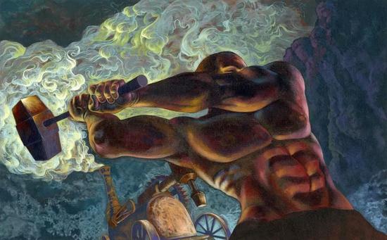 """""""约翰·亨利现象"""":那些以目标为导向热衷成功的人日以继夜奋斗,最终暴毙身亡。图源:Tes"""