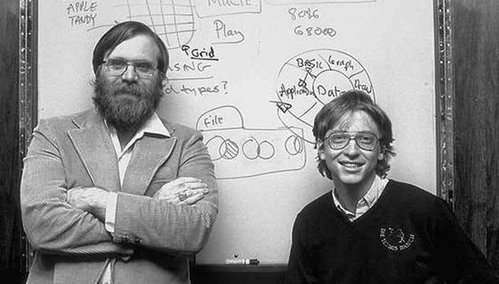 1975 年的保罗·艾伦和比尔·盖茨。图/eyerys