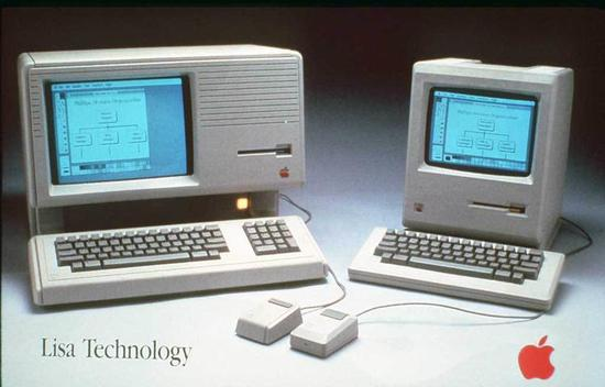 Apple Lisa 和 Macintosh,1984 年。图/Mac History