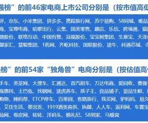 网经社:2019上半年中国电子商务企业100强榜单
