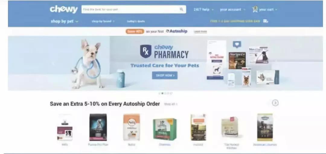 美国宠物电商启示录:从Pets倒闭到Chewy上市暴涨59%